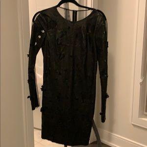 Black Leather BCBG dress